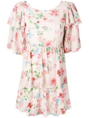 Платье с оборками Aniye By. Цвет: бежевый