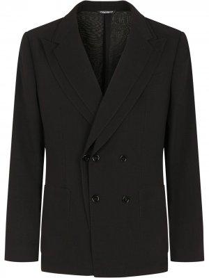 Пиджак с двойными лацканами Dolce & Gabbana. Цвет: черный