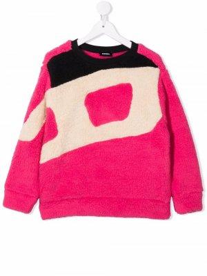 Logo-print fleece sweatshirt Diesel Kids. Цвет: розовый
