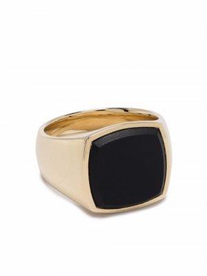 Перстень Cushion Onyx Tom Wood. Цвет: золотистый