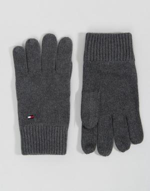 Перчатки с добавлением кашемира Tommy Hilfiger. Цвет: серый