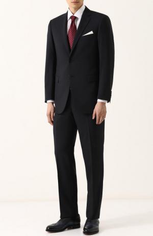 Шерстяной костюм Lanvin. Цвет: темно-синий