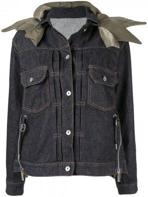 Джинсовая куртка со съемным воротником Sacai