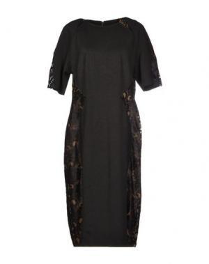 Платье до колена CLIPS. Цвет: стальной серый