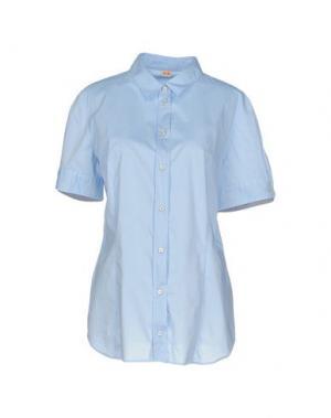 Pубашка BOSS HUGO. Цвет: небесно-голубой