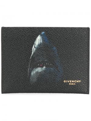 Визитница с принтом акулы Givenchy. Цвет: чёрный