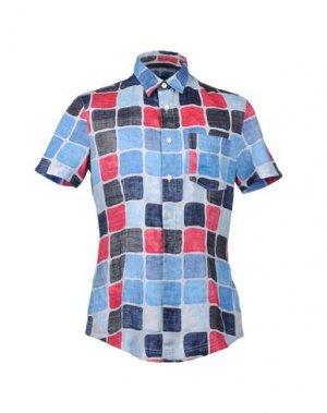Рубашка с короткими рукавами ARMANI JEANS. Цвет: синий