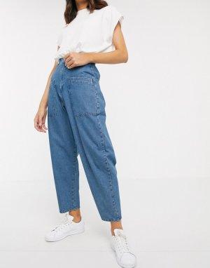 Синие джинсы бойфренда -Синий ASOS DESIGN