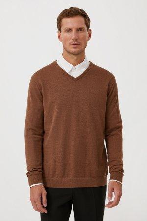 Джемпер мужской Finn-Flare. Цвет: коричневый
