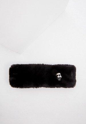 Повязка Karl Lagerfeld ACCORDING TO CARINE. Цвет: черный