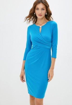 Платье Lauren Ralph. Цвет: голубой