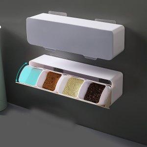 1 набор случайная настенная коробка для приправ SHEIN. Цвет: многоцветный