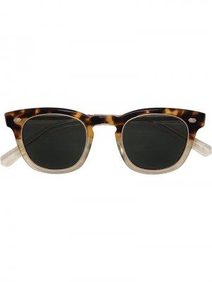 Солнцезащитные очки в квадратной оправе Garrett Leight. Цвет: черный
