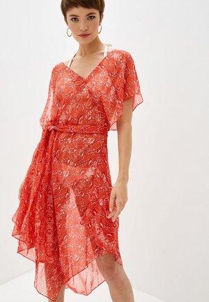 Платье пляжное Diane von Furstenberg. Цвет: красный