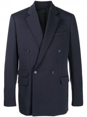 Двубортный пиджак Stella McCartney. Цвет: синий