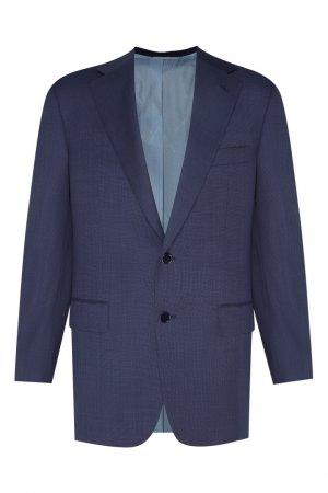 Шерстяной костюм Stefano Ricci. Цвет: синий