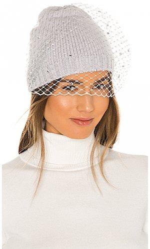 Шляпа lucinda Eugenia Kim. Цвет: серый