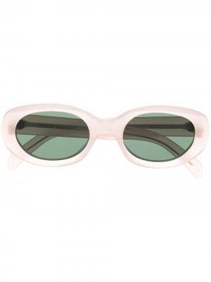 Солнцезащитные очки в прямоугольной оправе Celine Eyewear. Цвет: розовый