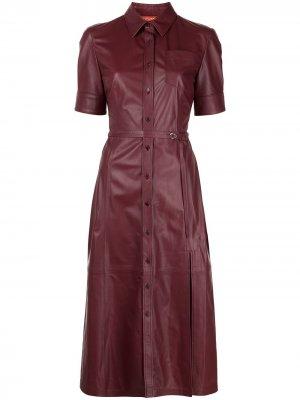 Платье-рубашка Kieran Altuzarra. Цвет: фиолетовый