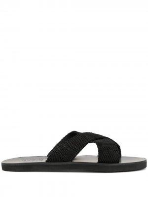 Сандалии Bios с перекрестными ремешками Ancient Greek Sandals. Цвет: черный
