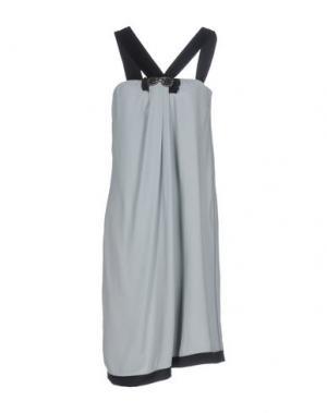 Платье до колена 6267. Цвет: светло-серый