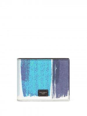 Бумажник с абстрактным принтом Dolce & Gabbana. Цвет: синий