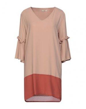 Короткое платье H2O ITALIA. Цвет: пудровый