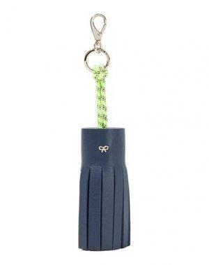 Брелок для ключей ANYA HINDMARCH. Цвет: темно-синий