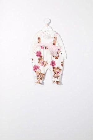 Пижама с принтом Teddy Bear Miss Blumarine. Цвет: белый