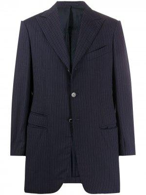Кашемировый пиджак 1990-х годов Romeo Gigli Pre-Owned. Цвет: синий