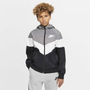 Куртка для школьников Sportswear Windrunner - Серый Nike