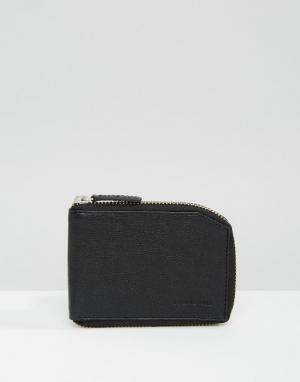 Черный бумажник на молнии Fuze Royal RepubliQ. Цвет: черный