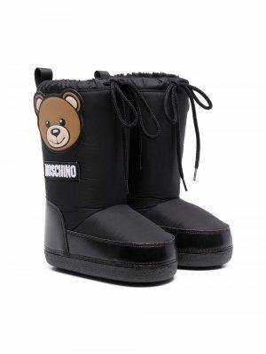 Teddy Bear motif snow boots Moschino Kids. Цвет: черный