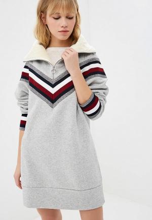 Платье Tommy Hilfiger ICONS. Цвет: серый