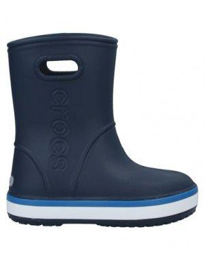 Полусапоги и высокие ботинки CROCS. Цвет: темно-синий