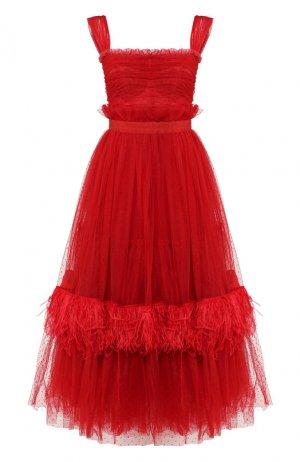 Платье-миди Dolce & Gabbana. Цвет: красный