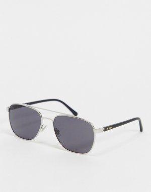 Солнцезащитные очки с двойным мостиком 3111/G/S-Серебристый Fossil