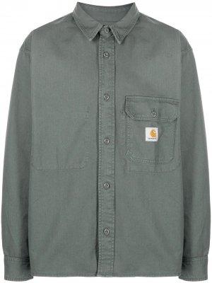 Куртка-рубашка Reno с нашивкой-логотипом Carhartt WIP. Цвет: зеленый