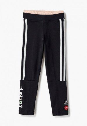 Леггинсы adidas G ART TIGHT. Цвет: черный