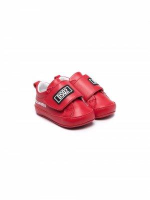 Кроссовки с логотипом Dsquared2 Kids. Цвет: красный