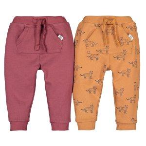 Комплект из 2 штанишек LaRedoute. Цвет: красный