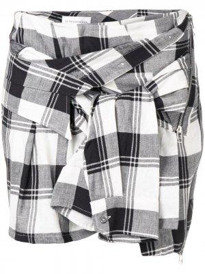 Декорированная юбка в клетку Faith Connexion. Цвет: черный