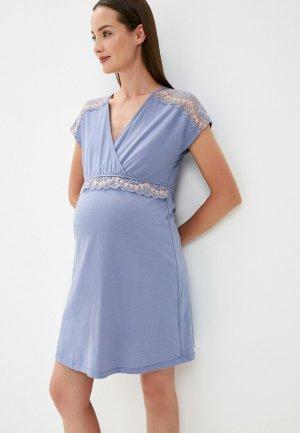 Сорочка ночная All Mixes. Цвет: голубой