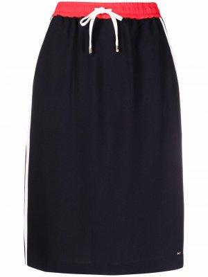 Спортивная юбка-карандаш Tommy Hilfiger. Цвет: синий