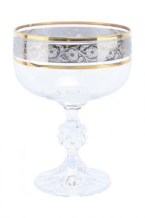 Набор креманок 200 мл 6 шт. Bohemia. Цвет: прозрачный, золотой, платиновы
