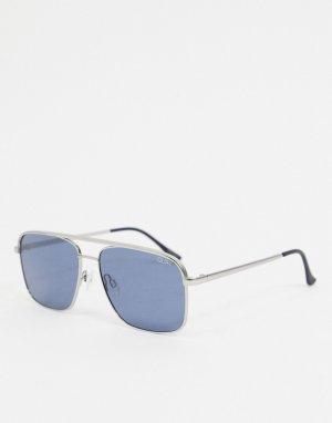 Серебристые солнцезащитные очки с квадратной оправой Poster Boy-Серебряный Quay Australia