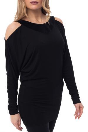 Платье-туника Gloss. Цвет: черный