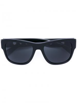 Солнцезащитные очки в квадратной оправе Versace. Цвет: чёрный