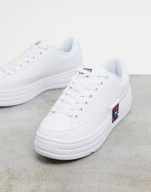 Белые кроссовки на платформе Korea Funky Tennis-Белый Fila