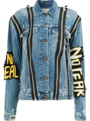 Джинсовая куртка No Fear Faith Connexion. Цвет: синий